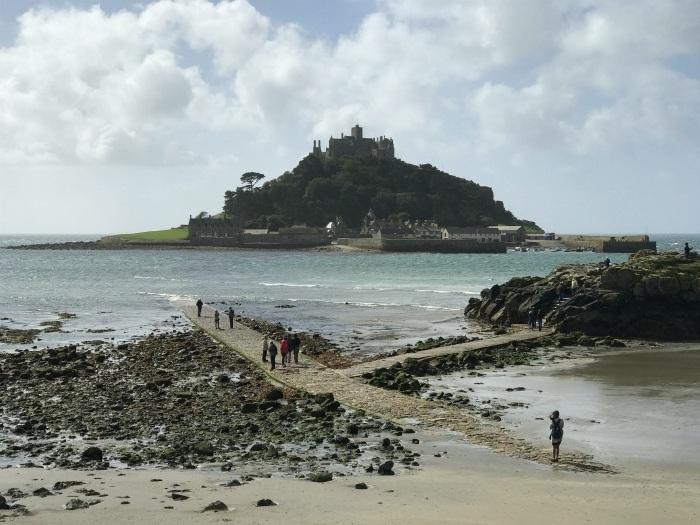St Michael's Mount in Cornwall low tide