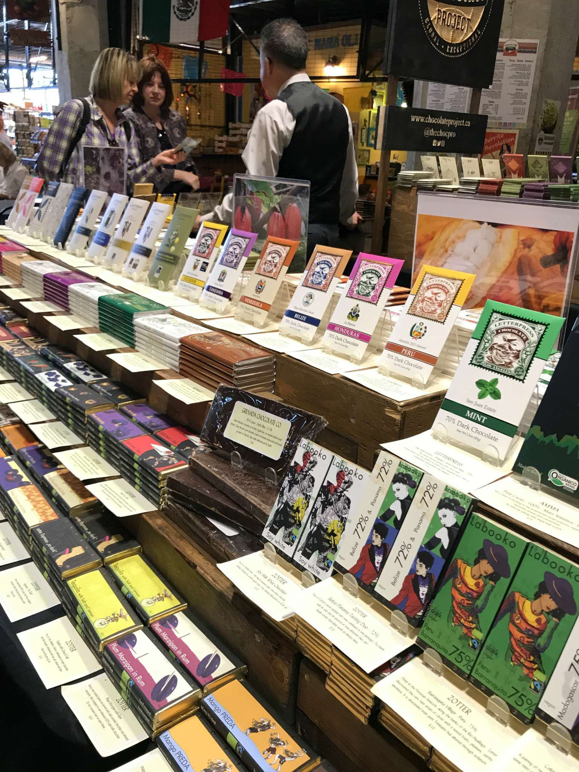 A Foodies Guide to Vancouver Island - Chocolate in Victoria Public Market Photo: Heatheronhertravels.com