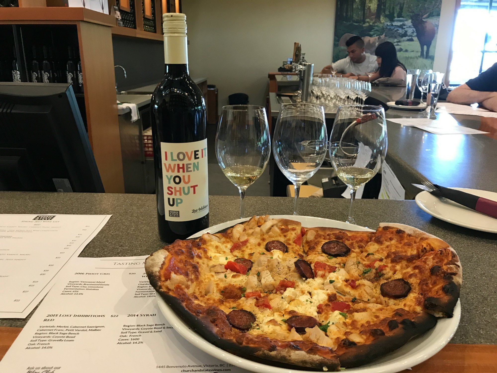 Foodie guide to Vancouver - Church and state winery near Victoria Canada Photo: Heatheronhertravels.com