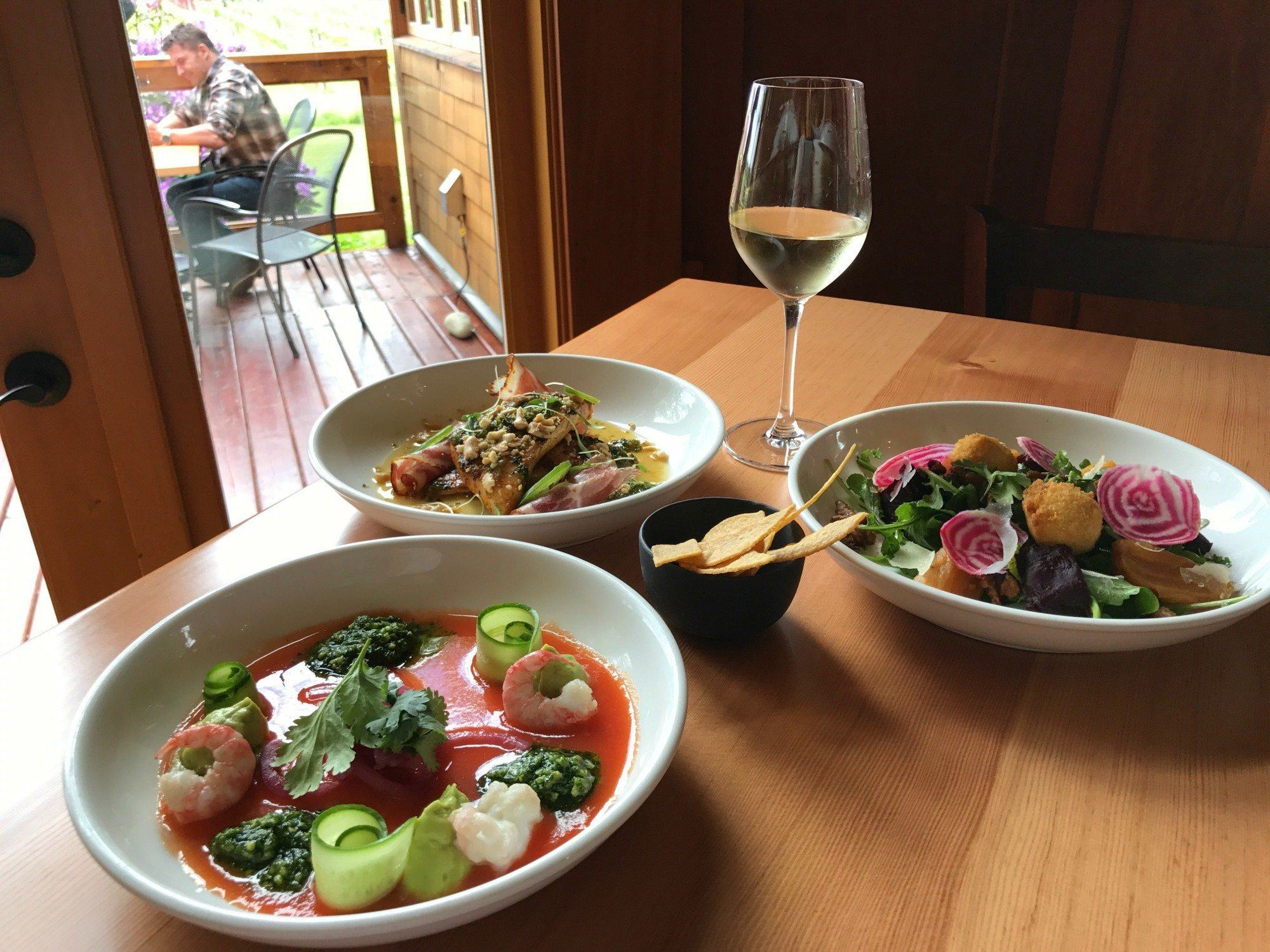 Fine Dining Victoria - Unsworth winery in the Cowichan valley photo: Heatheronhertravels.com