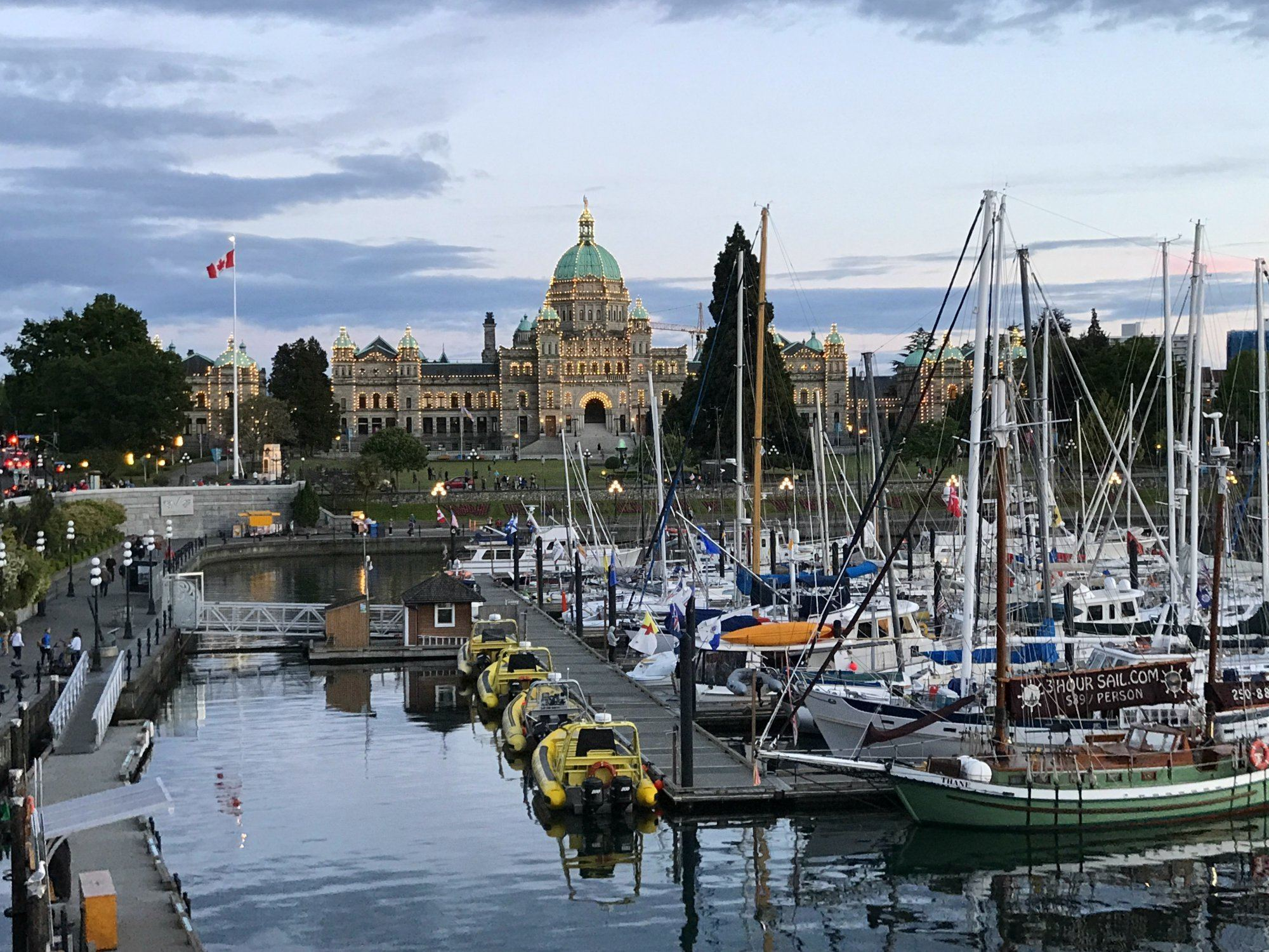 Foodies Guide to Vancouver - Victoria in BC Canada at dusk Photo: Heatheronhertravels.com