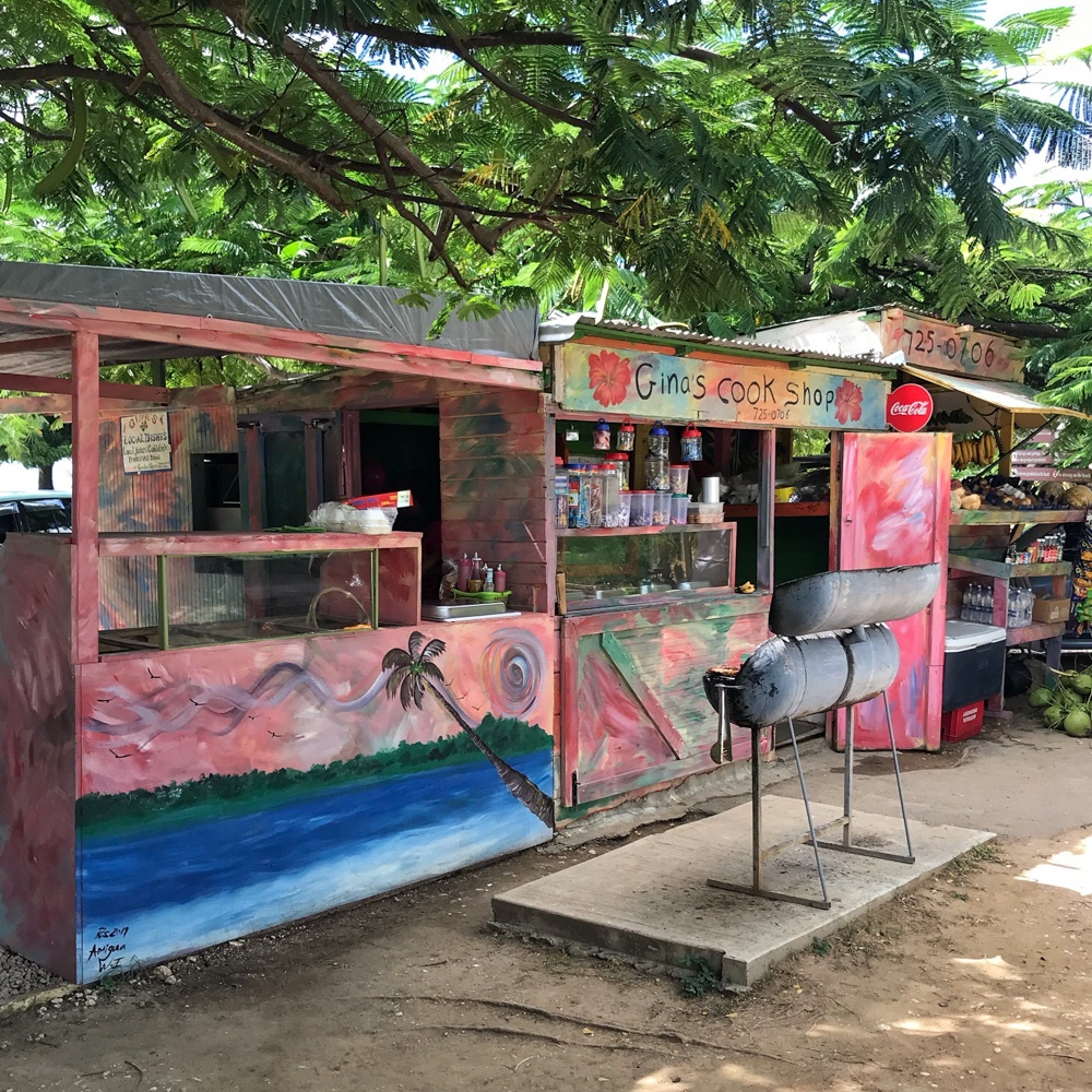 Gina's Cook Shop, Morris Bay Antigua Photo Heatheronhertravels.com