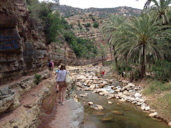 Walking to the start of Paradise Valley near Agadir Photo Heatheronhertravels.com