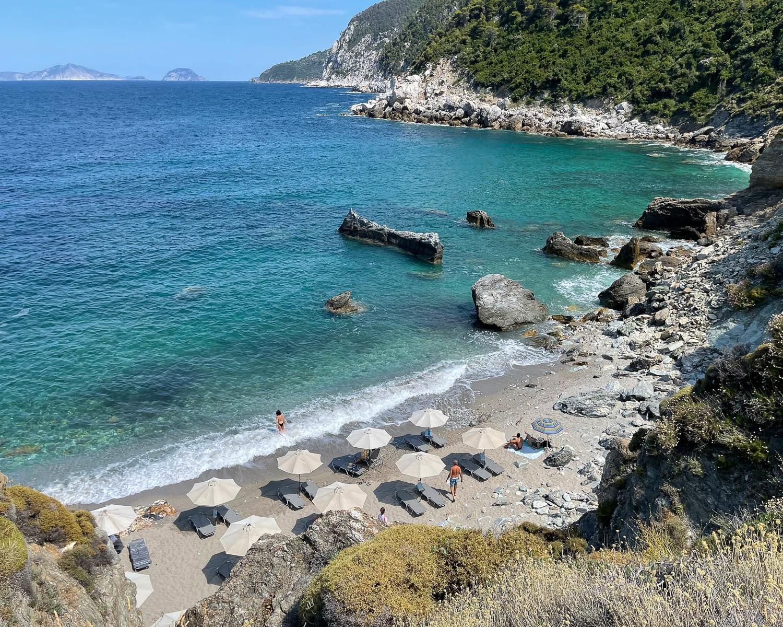 Agios Ioannis Beach Skopelos, Greece Photo Heatheronhertravels.com