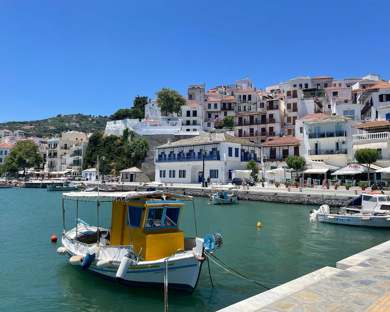 Skopelos Port Chora, Skopelos Greece Photo Heatheronhertravels.com