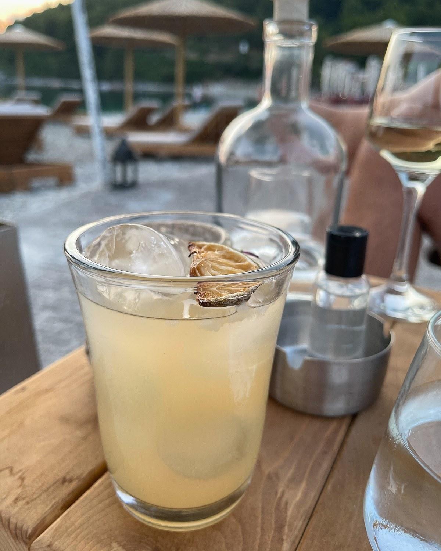 Cocktails at Kraken, Panormos Beach, Skopelos Greece