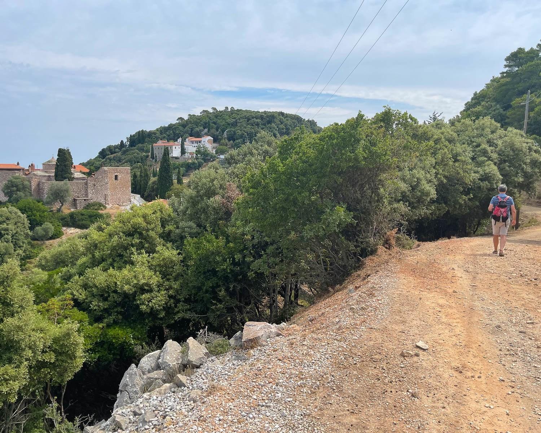 Hiking to the monasteries in Skopelos Greece