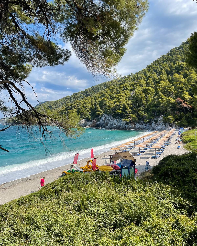 Kastani Beach Skopelos, Greece Photo Heatheronhertravels.com