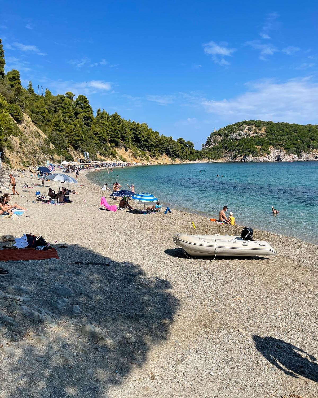 Stayflos Beach, Skopelos, Greece Photo Heatheronhertravels.com