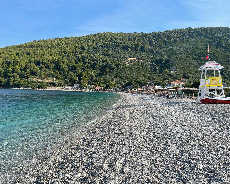 Panormos Beach, Skopelos, Greece Photo Heatheronhertravels.com