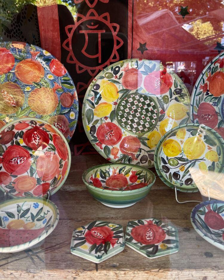 Shopping for ceramics in Skopelos Photo Heatheronhertravels.com